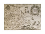 Map of Ancient Abruzzo, 1702 Giclee Print by Giovan Battista Pacichelli