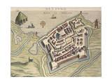 Map of Nettuno, from Theatrum Civitatum Et Admirandorum Italiae Giclee Print by Joan Blaeu