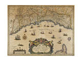 Republic of Genoa, Map, 1647 Giclée-Druck von Jan Baptist Vrients