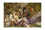 Death of Adonis, Fresco Giclée-tryk af Francesco Primaticcio