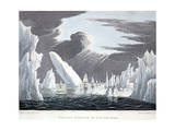 Passage Through the Ice, 16th June 1818, Illustration from 'A Voyage of Discovery...', 1819 Giclee Print by John Ross