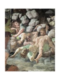 Frescoes in Chamber of Giants Giclée-tryk af Romano, Giulio