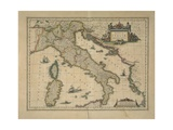 Map of Italy Giclée-tryk af Joan Blaeu