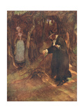She Beheld the Minister Advancing Giclee Print by Hugh Thomson