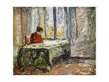Woman Sewing; Femme Cousant Giclee Print by Henri Lebasque