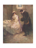 Hester Seated Herself on the Bed Giclee Print by Hugh Thomson
