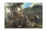 Garibaldi Wounded in Aspromontei Giclee Print by Girolamo Induno