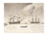 Perilous Situation of the Isabella and Alexander Giclee Print by John Ross
