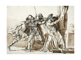 Historical Figure Composition Giclee Print by Jean-germain Drouais