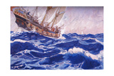 A Ship Standing Towards Us Giclee Print by George Washington Lambert