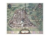 Map of Norcia, from Theatrum Civitatum Et Admirandorum Italiae Giclee Print by Joan Blaeu