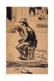 Untitled - Man Seated on a Fire Hydrant Giclee Print by George Luks