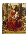 Madonna with Child and Angel Musicians, Central Panel of Malvern Triptych, 1511-1515 Giclee Print by Jan Gossaert