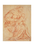 Enthroned Madonna and Child, 1573 Giclee Print by Jacopo Bassano
