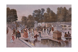 In the Garden of the Tuileries Giclee Print by Francois Flameng
