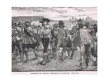 Reception of Viscount Wimbledon at Plymouth 1626 Giclee Print by Gordon Frederick Browne
