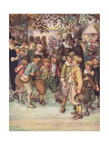 A Crowd of Eager and Curious Schoolboys Giclee Print by Hugh Thomson
