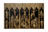 Crucifixion with Saints Coloman, Quirin, Castor and Chrysogonus, Ca. 1440 Giclee Print by Gabriel Angler