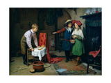 Playing Shops Giclee Print by Harry Brooker