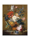 Bouquet of Flowers Giclee Print by Jan van Huysum
