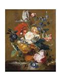 Bouquet of Flowers Giclee Print by Jan van Huysum