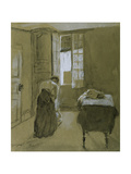 Woman Dressing, C.1907 Giclee Print by Gwen John