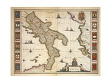Map of Calabria Region Giclee Print by Joan Blaeu