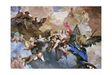 Kidnapping of Venus by Kronos, Detail of Course of Sun Chariot Giclee Print by Giambattista Tiepolo