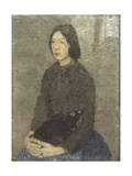 Girl with Cat in Her Lap Giclee Print by Gwen John