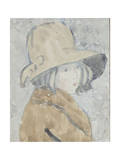 Study of a Little Girl in a Wide Brimmed Hat Giclee Print by Gwen John