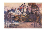 Governor Phillip in Sydney Cove Giclee Print by George Washington Lambert
