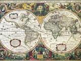 Nova Totius Terrarum Orbis Geographica Ac Hydrographica Tabula Giclee Print by Henricus Hondius