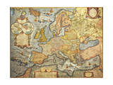 Map of Europe 1686 Giclee Print by Joan Blaeu