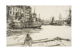 "Eagle Wharf, from ""A Series of Sixteen Etchings of Scenes on the Thames"", 1859, Published 1871 Giclee Print by James Abbott McNeill Whistler"