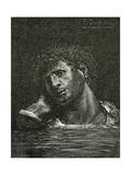 Mort De Giliath - Illustration from Les Travailleurs De La Mer, 19th Century Giclee Print by Francois Nicolas Chifflart