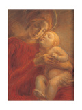 Madonna and Child, 1895 Giclee Print by Gaetano Previati