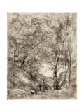 Les Jardins D'Horace, 1856 Giclee Print by Jean-Baptiste-Camille Corot