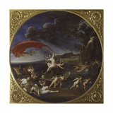 Allegory of Water, from Series Four Elements, Circa 1627 Giclée-tryk af Francesco Albani