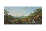 Wooded River Landscape Giclee Print by George the Elder Barret