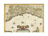 Republic of Genoa, Map, 1647 Giclee Print by Jan Baptist Vrients