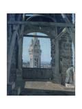 Tower of Palazzo Del Podesta Giclee Print by Giuseppe Abbati
