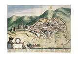 Map of Assisi from Theatrum Civitatum Et Admirandorum Italiae Giclee Print by Joan Blaeu