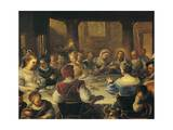 Wedding at Cana Giclee Print by Luca Giordano