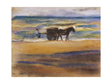 Shell Seekers on the Beach Giclee Print by Max Liebermann
