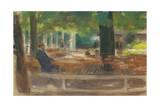 Biergarten in Laren, C.1903 Giclee Print by Max Liebermann