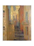 La Rue De L'Eglise Giclee Print by Henri Eugene Augustin Le Sidaner