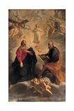 The Holy Family, 1688 Giclée-tryk af Giuseppe Maria Crespi