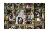 Frescoes of the Ceiling of Sistine Chapel Giclee Print by  Michelangelo Buonarroti