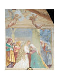The Virgin Mary Visiting St Elizabeth, 1525 Giclee Print by Lorenzo Lotto