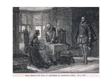 Mary Signing the Deed of Abdication in Lochleven Castle 1568 Giclee Print by Henry Marriott Paget